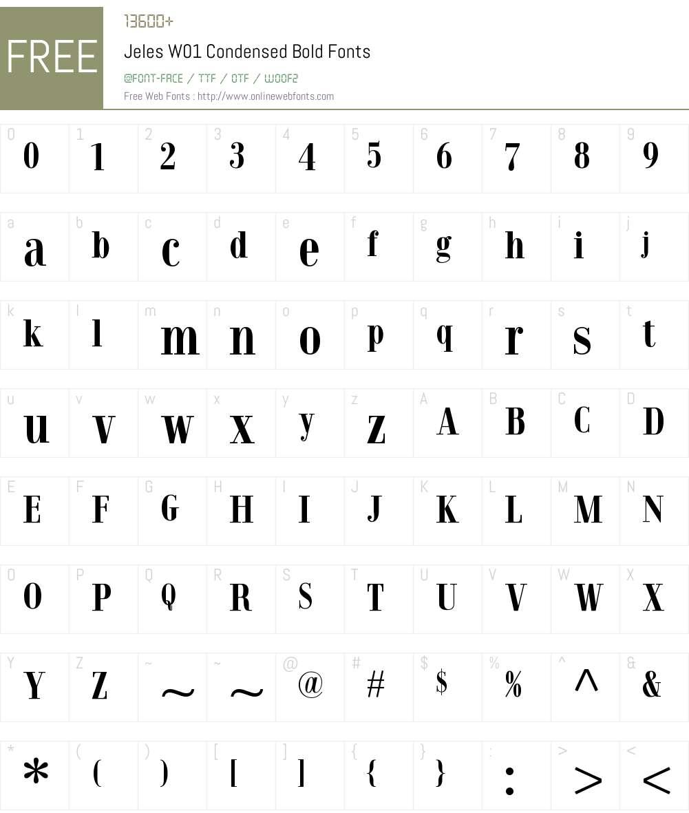 JelesW01-CondensedBold Font Screenshots