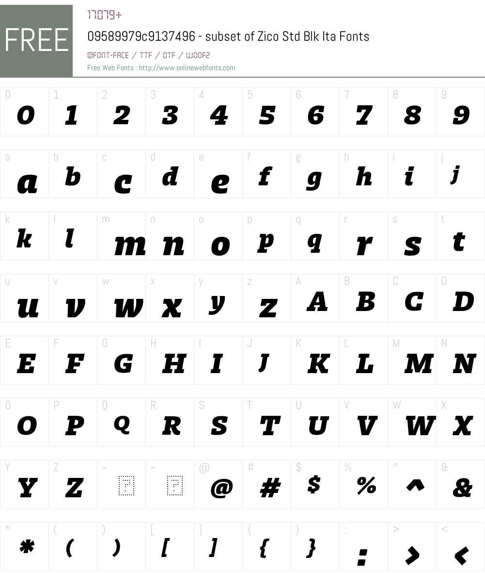 09589979c9137496 - subset of Zico Std Blk Font Screenshots