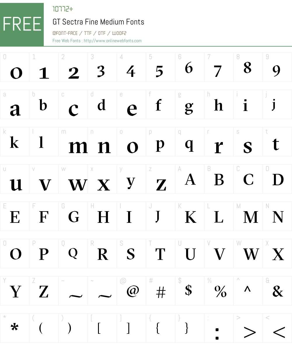 GT Sectra Fine Medium Font Screenshots