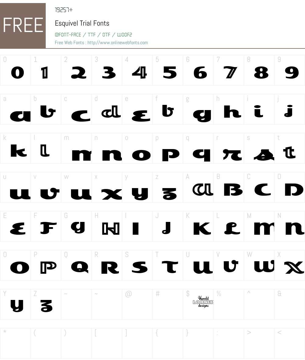 Esquivel Font Screenshots