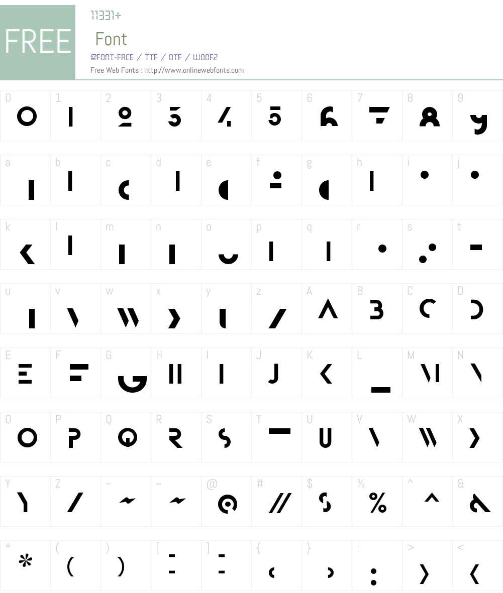 P22 Bifur Font Screenshots