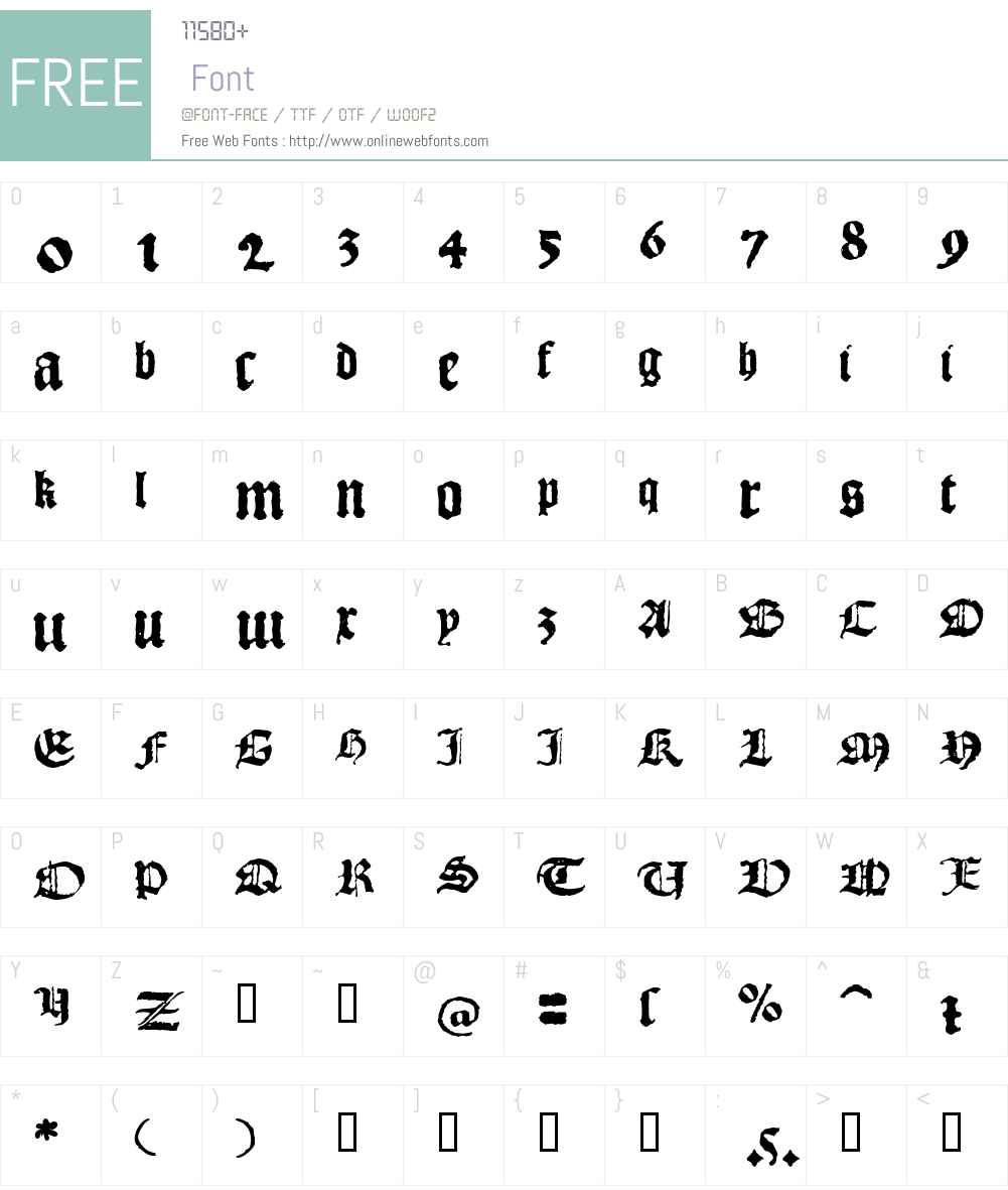 1492_Quadrata Font Screenshots