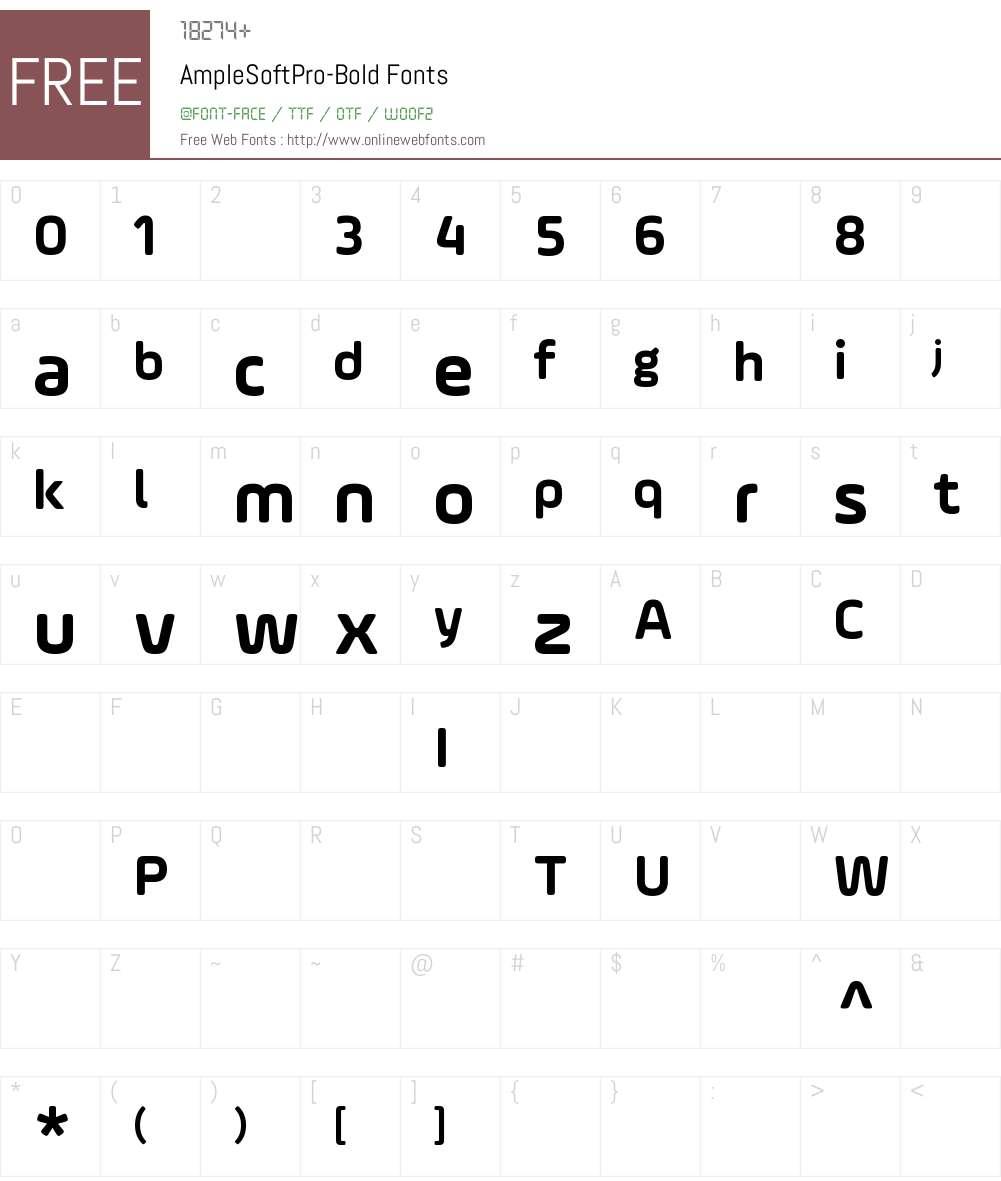 AmpleSoftPro-Bold Font Screenshots
