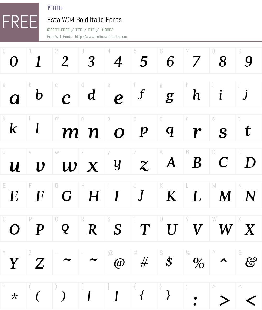 Esta Font Screenshots