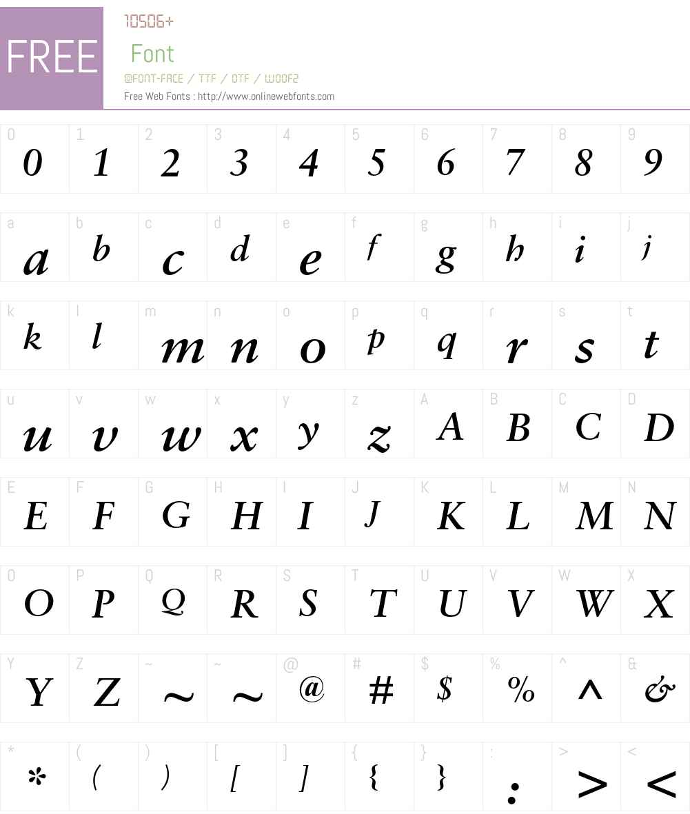Sabon MT Std Font Screenshots