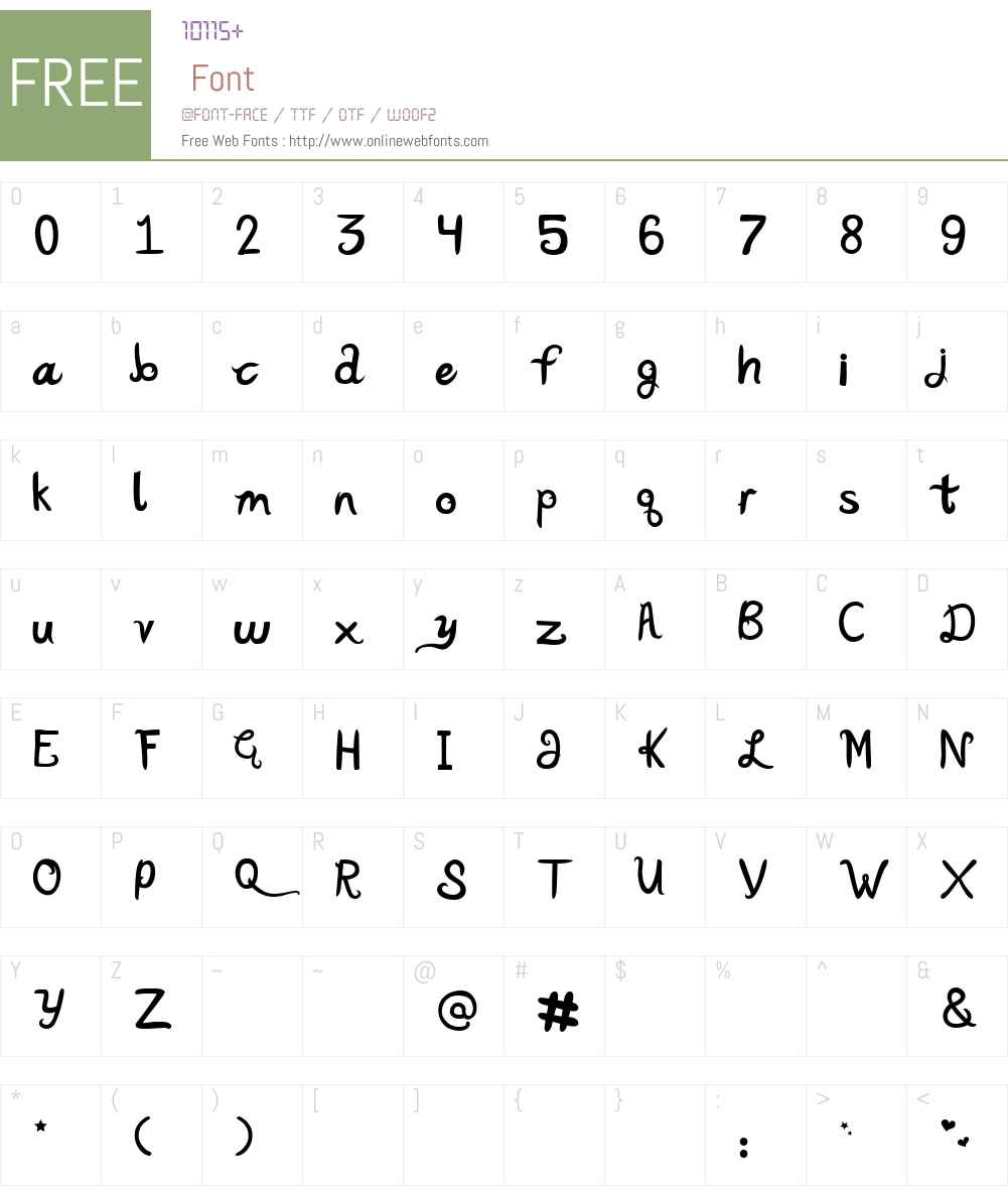 Katy Berry Font Screenshots