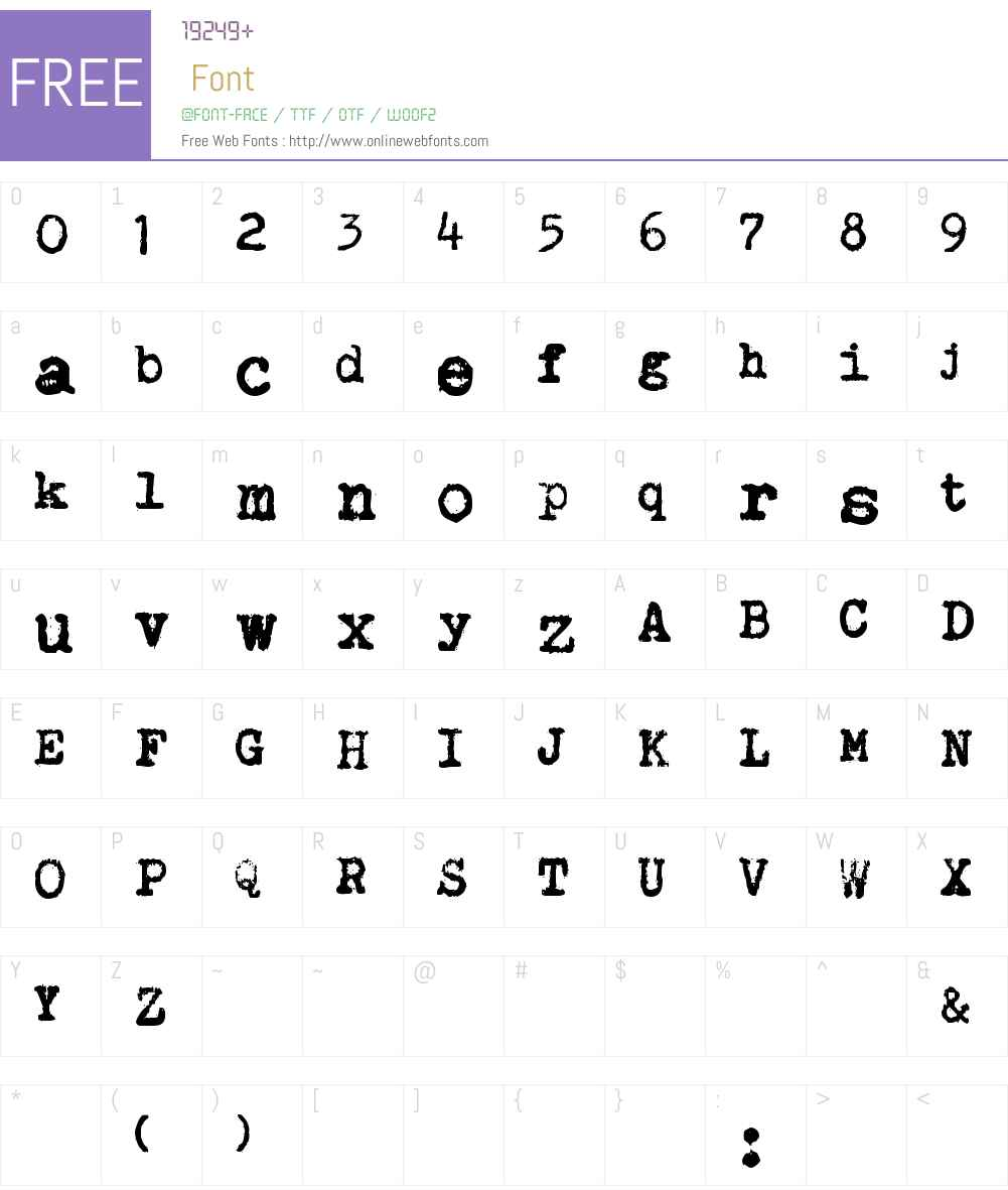 Brother Deluxe 1350 Font Font Screenshots