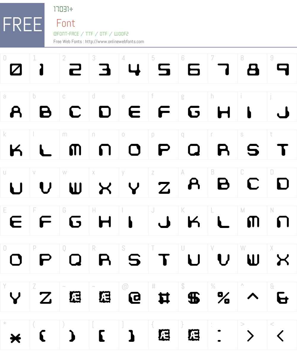 Chintzy CPU (BRK) Font Screenshots