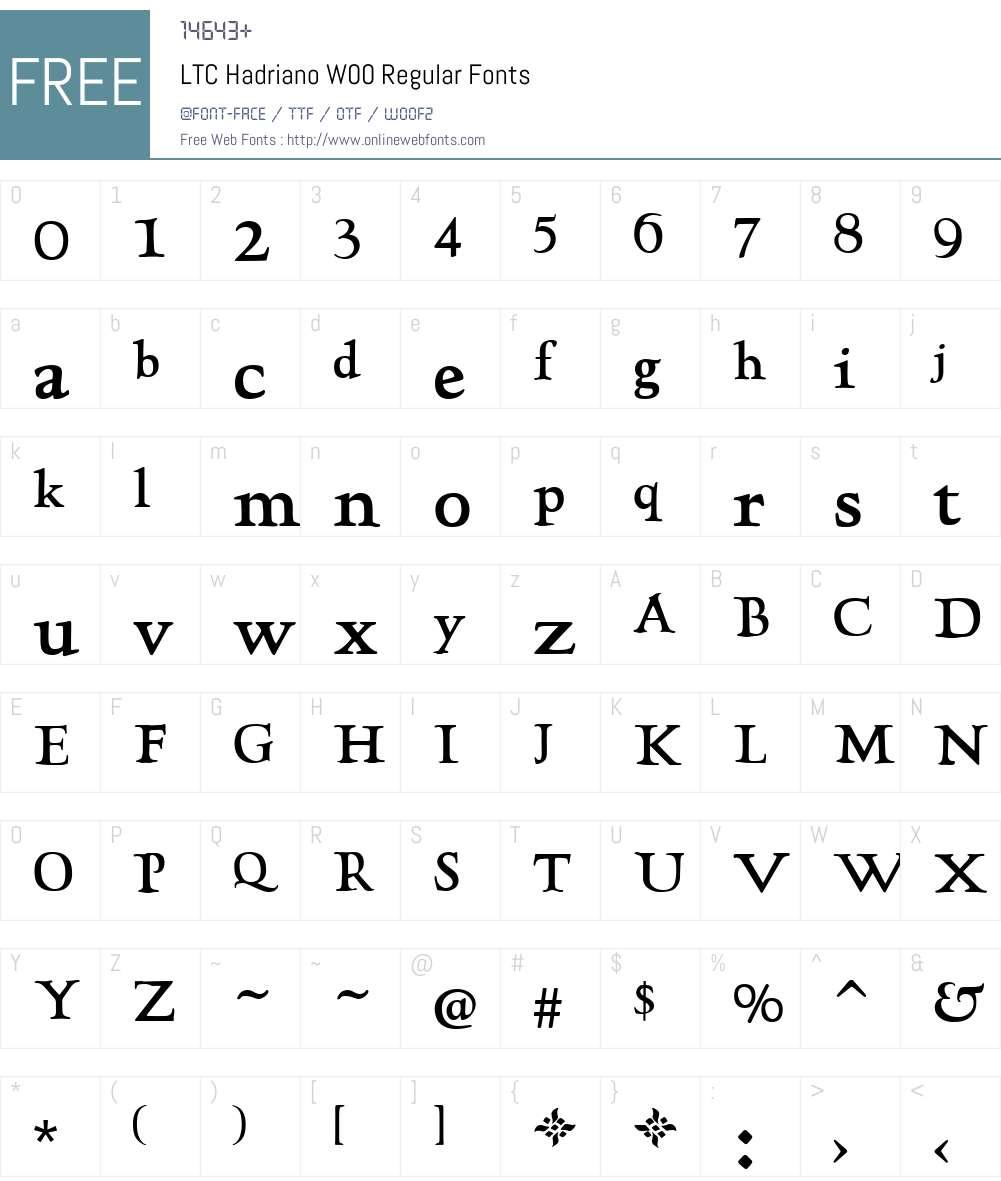LTCHadrianoW00-Regular Font Screenshots