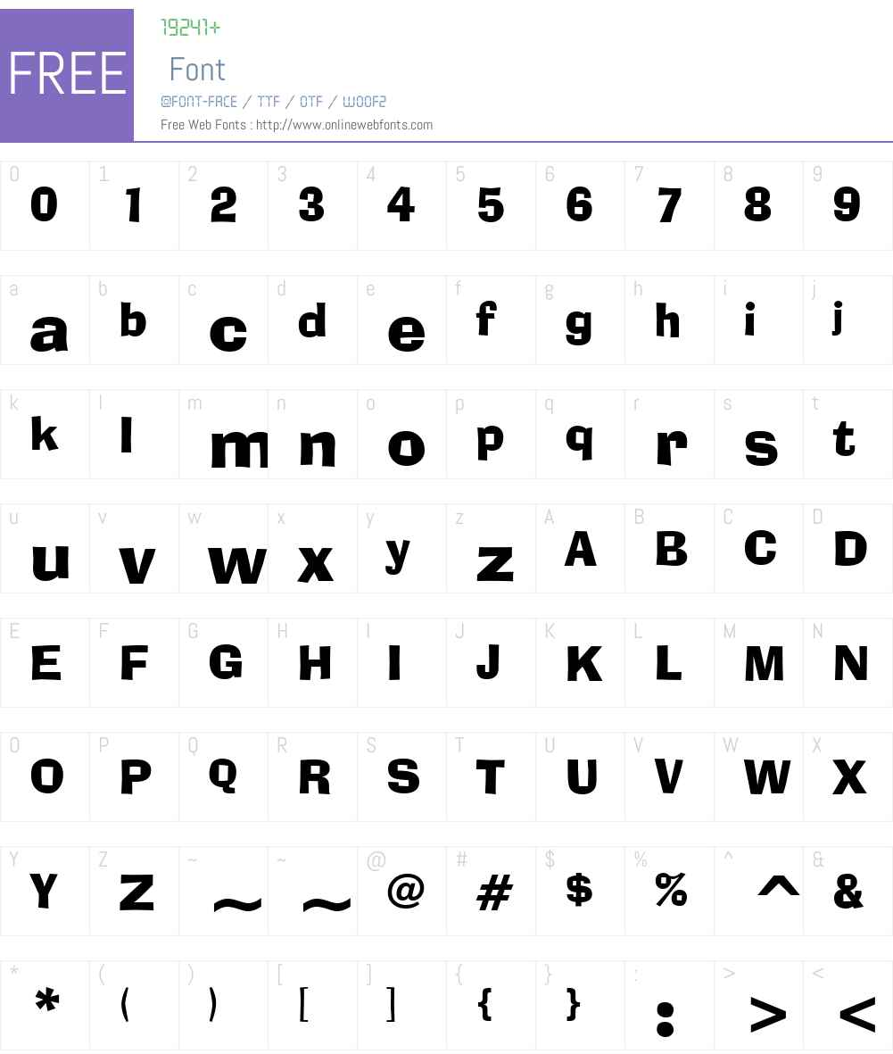 AdLib BT Font Screenshots