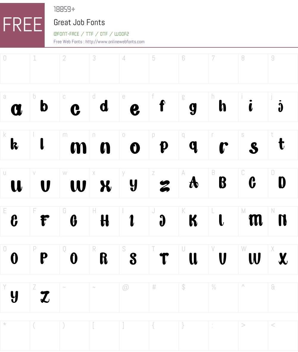 Great Job Font Screenshots