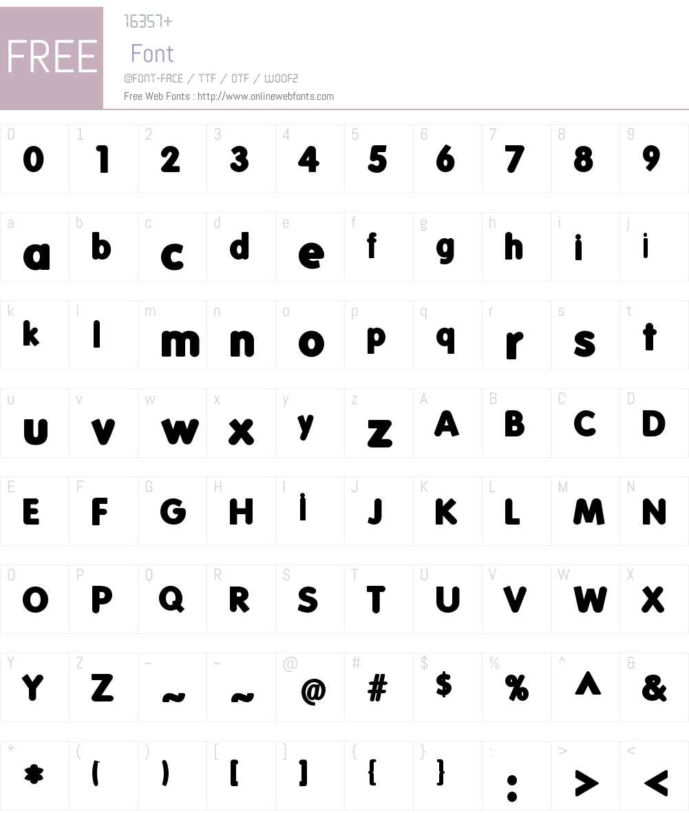 FolksBlack Font Screenshots