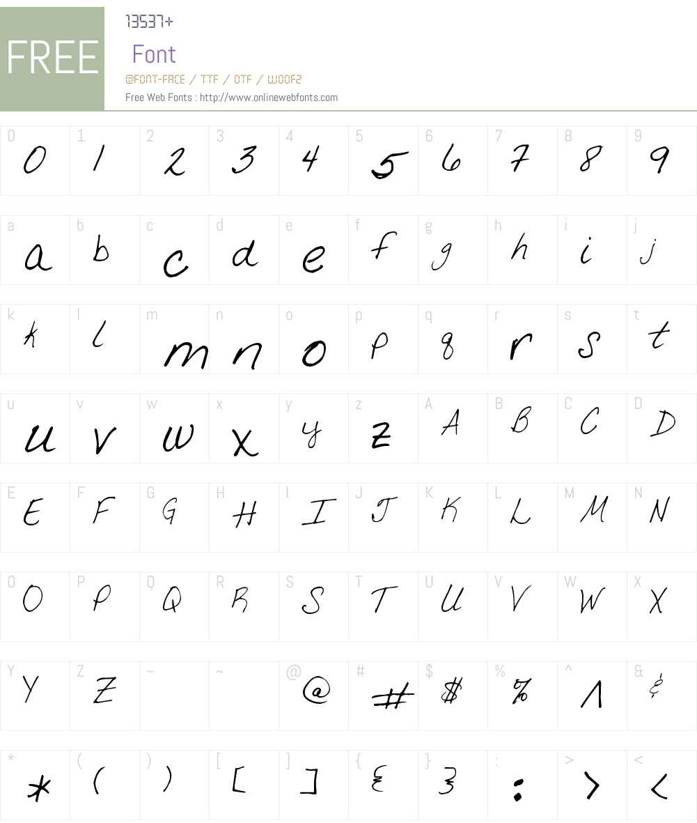 KGD Julie Font Screenshots