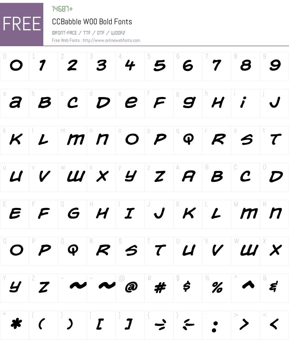 CCBabbleW00-Bold Font Screenshots