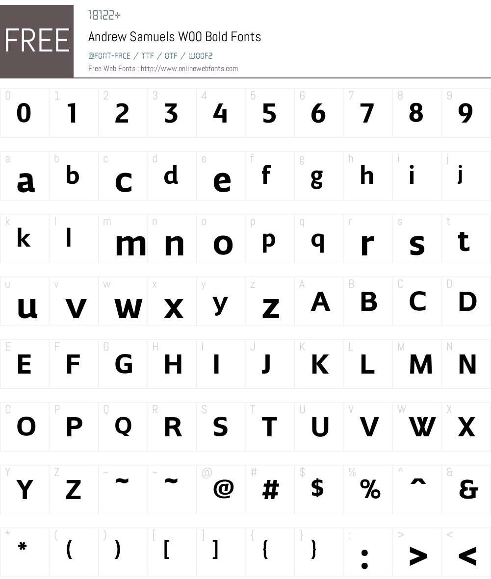 AndrewSamuelsW00-Bold Font Screenshots