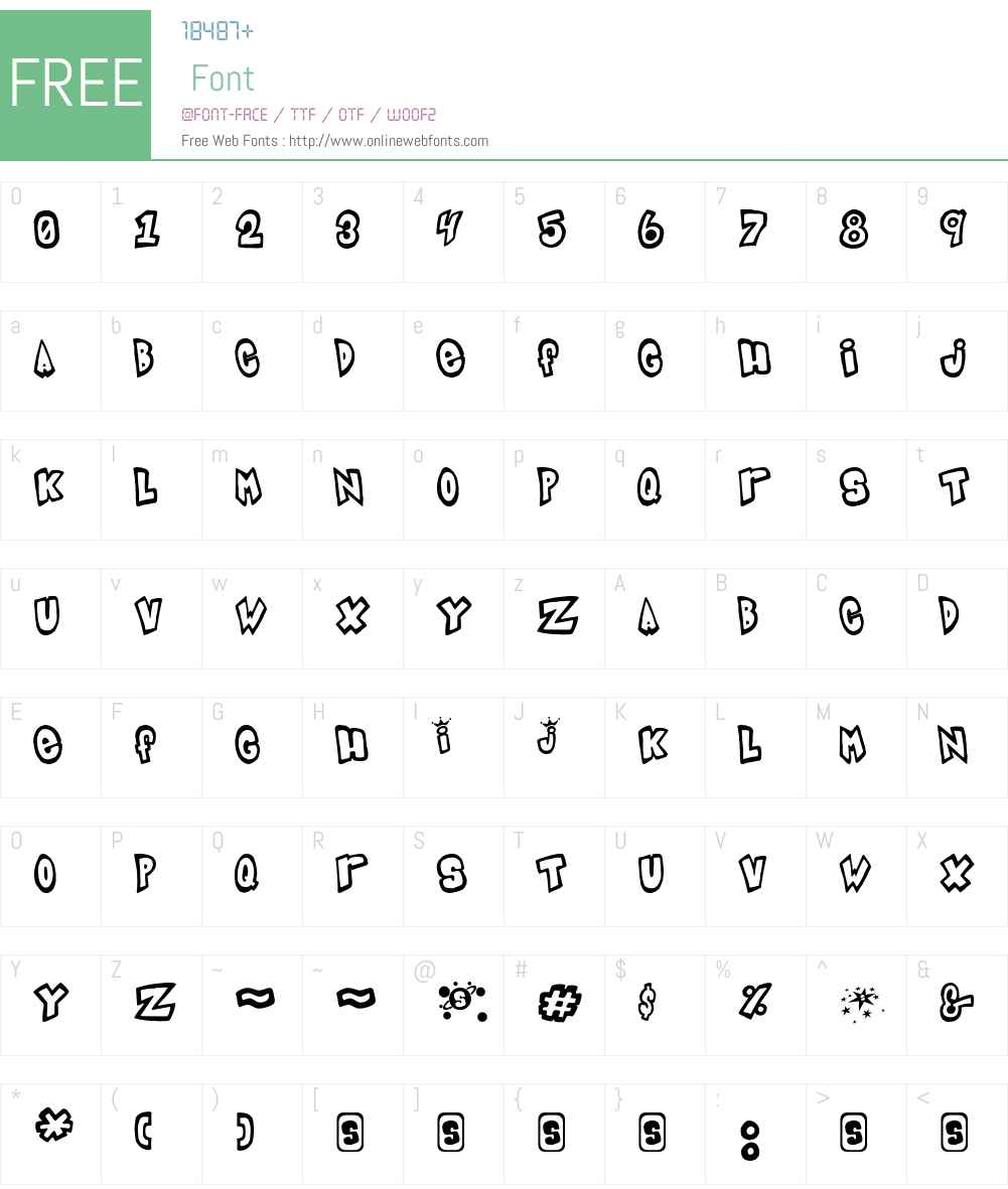 IndigoJoker Font Screenshots