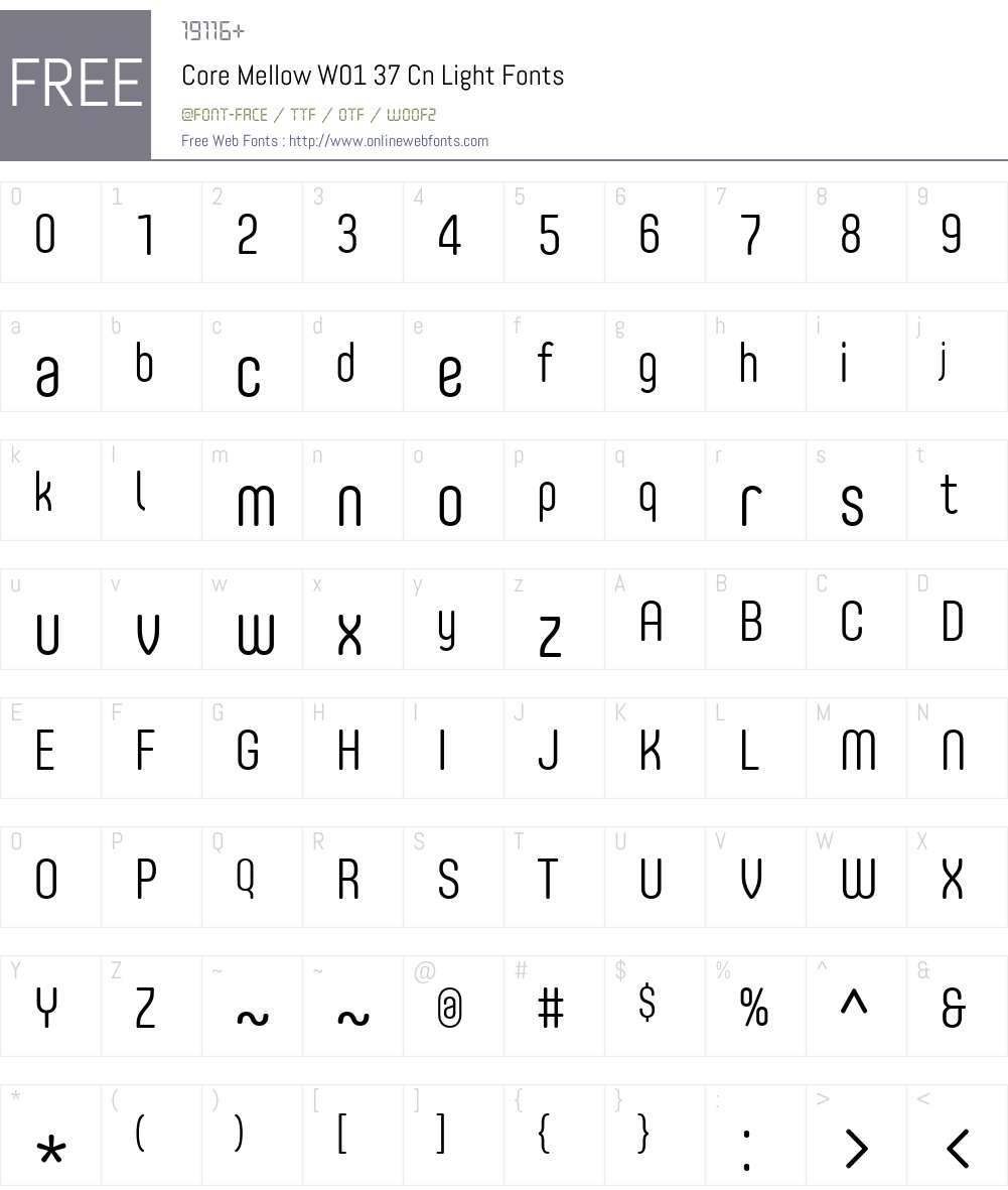 CoreMellowW01-37CnLight Font Screenshots