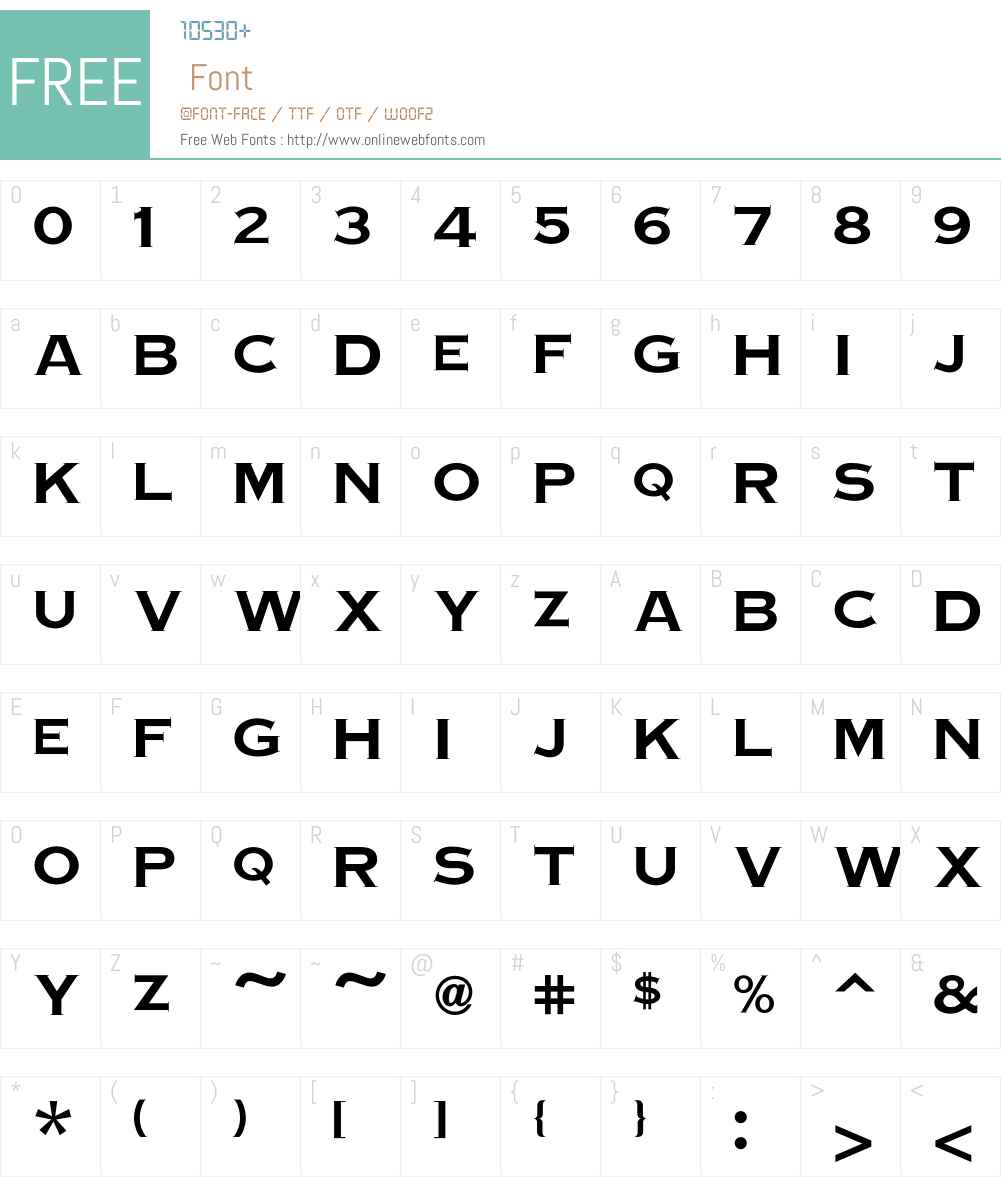 Copperplate Font Screenshots