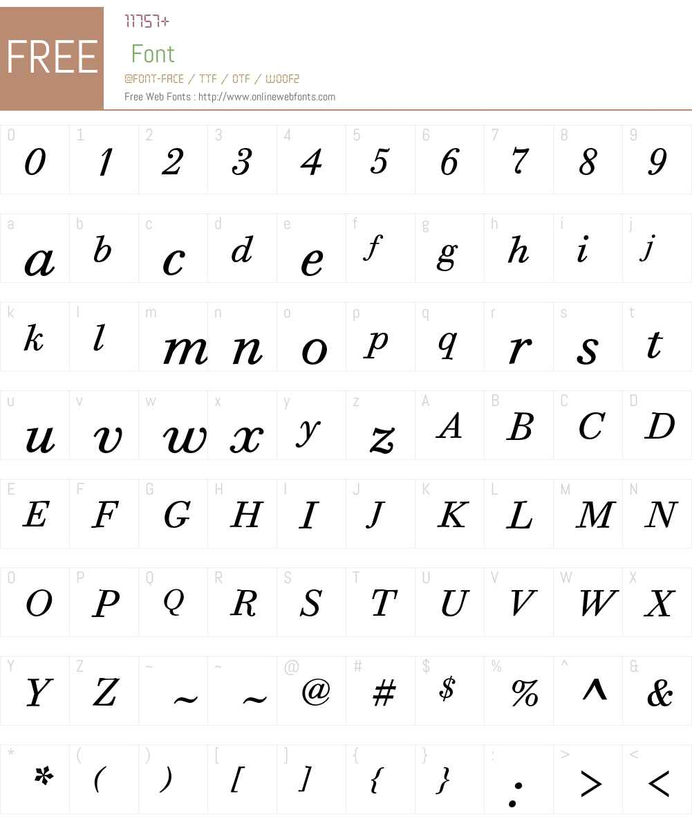 Bodoni Six ITC Std Font Screenshots
