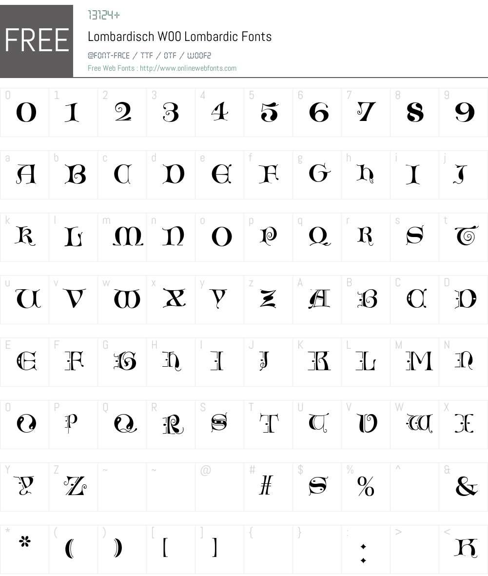 LombardischW00-Lombardic Font Screenshots