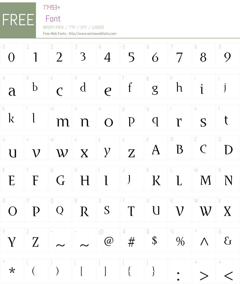 Runa Serif Std Font Screenshots