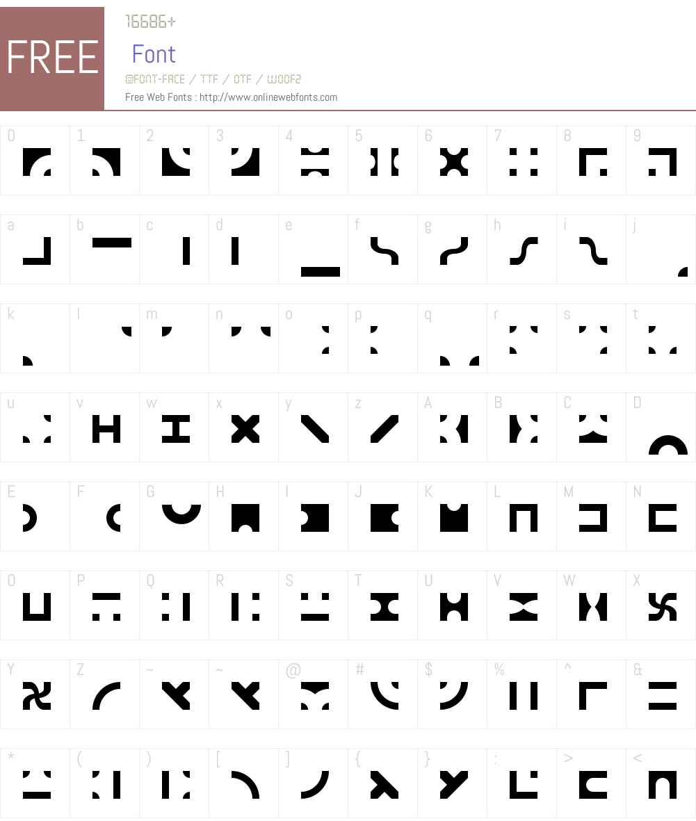 Bit Blocks TTF BRK Font Screenshots