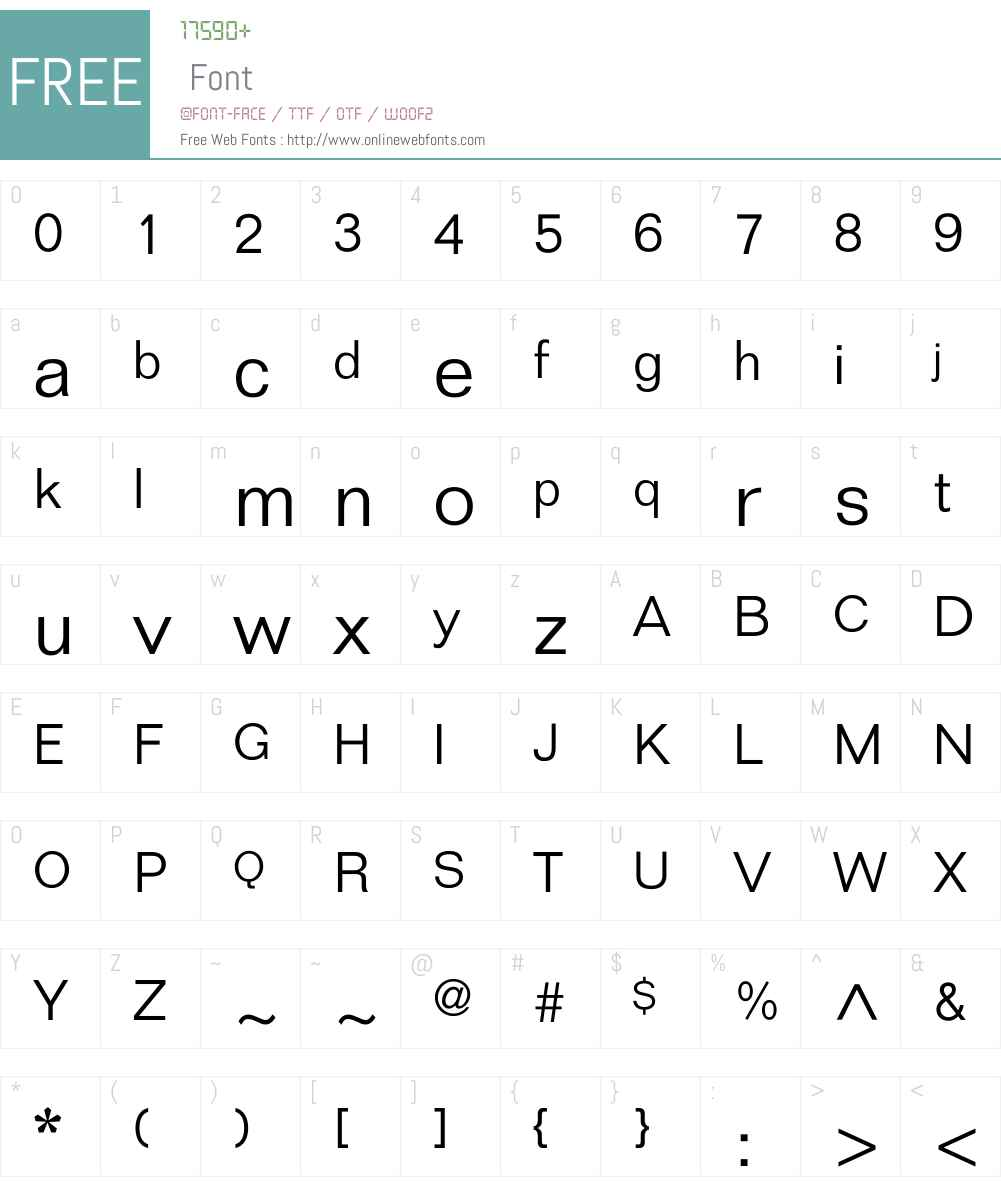 Folio Font Screenshots