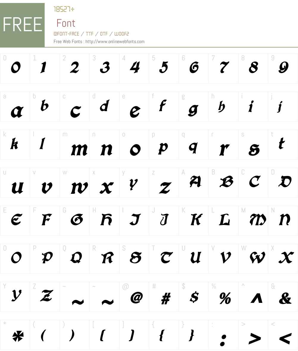 ConcordiaSSK Font Screenshots