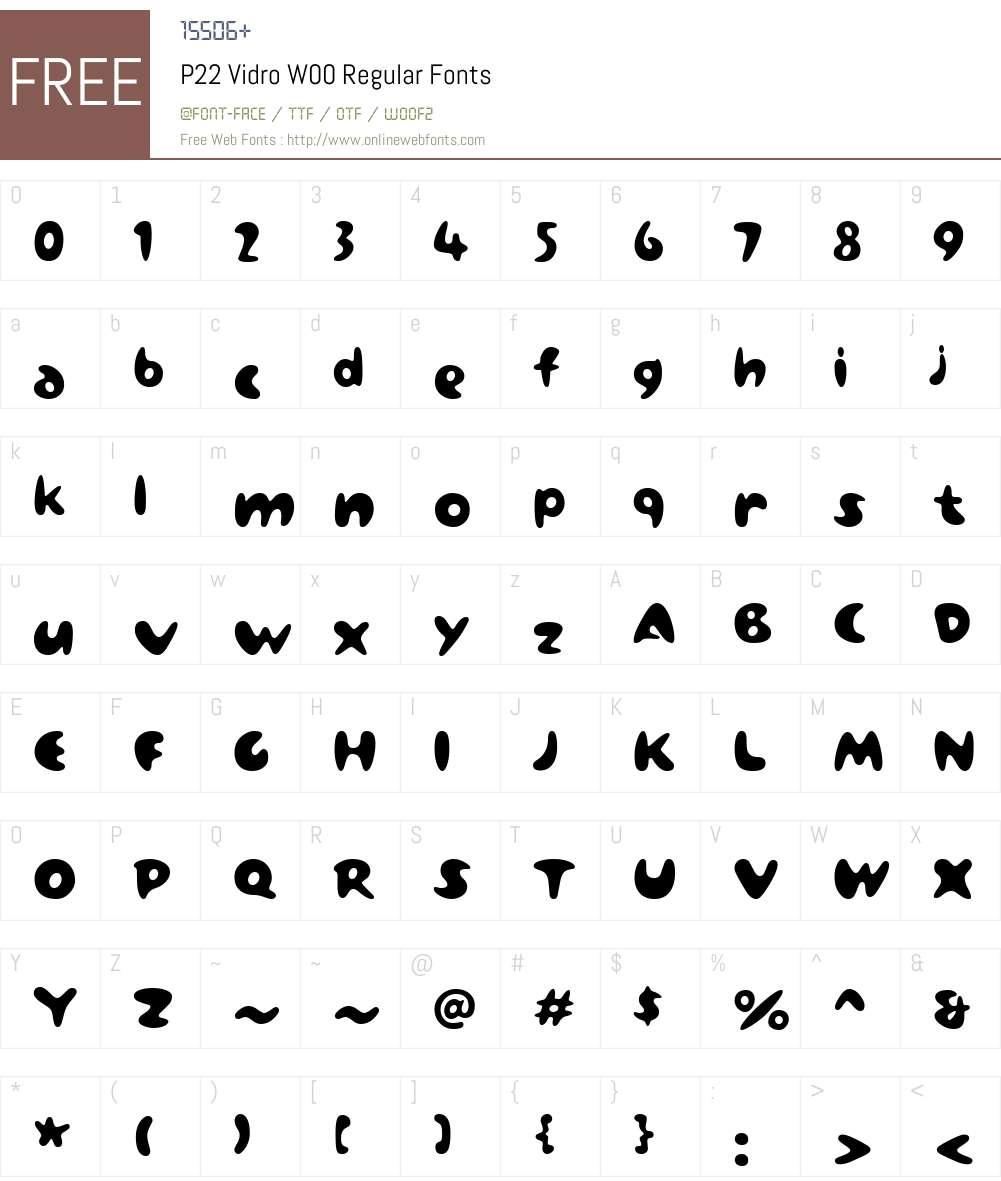 P22VidroW00-Regular Font Screenshots