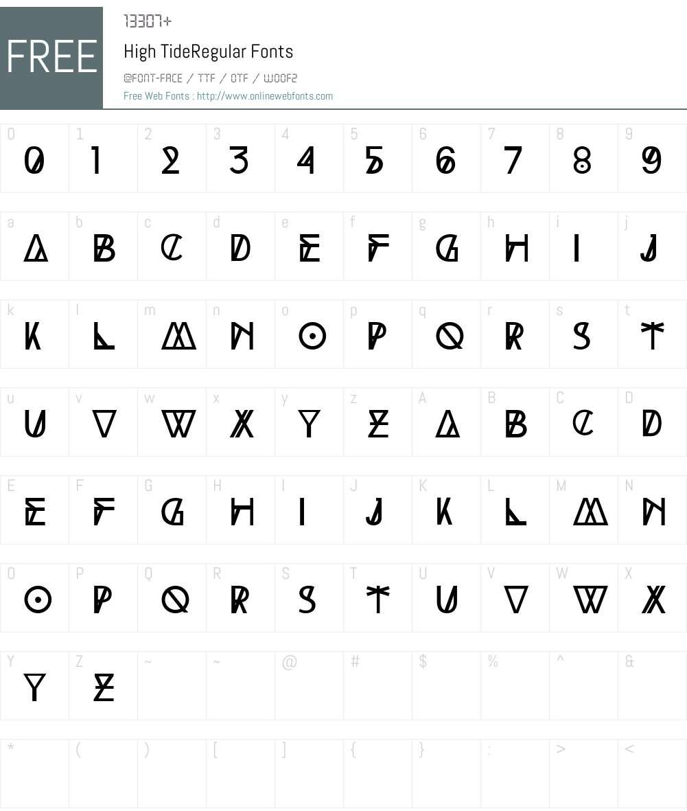 High Tide Font Screenshots