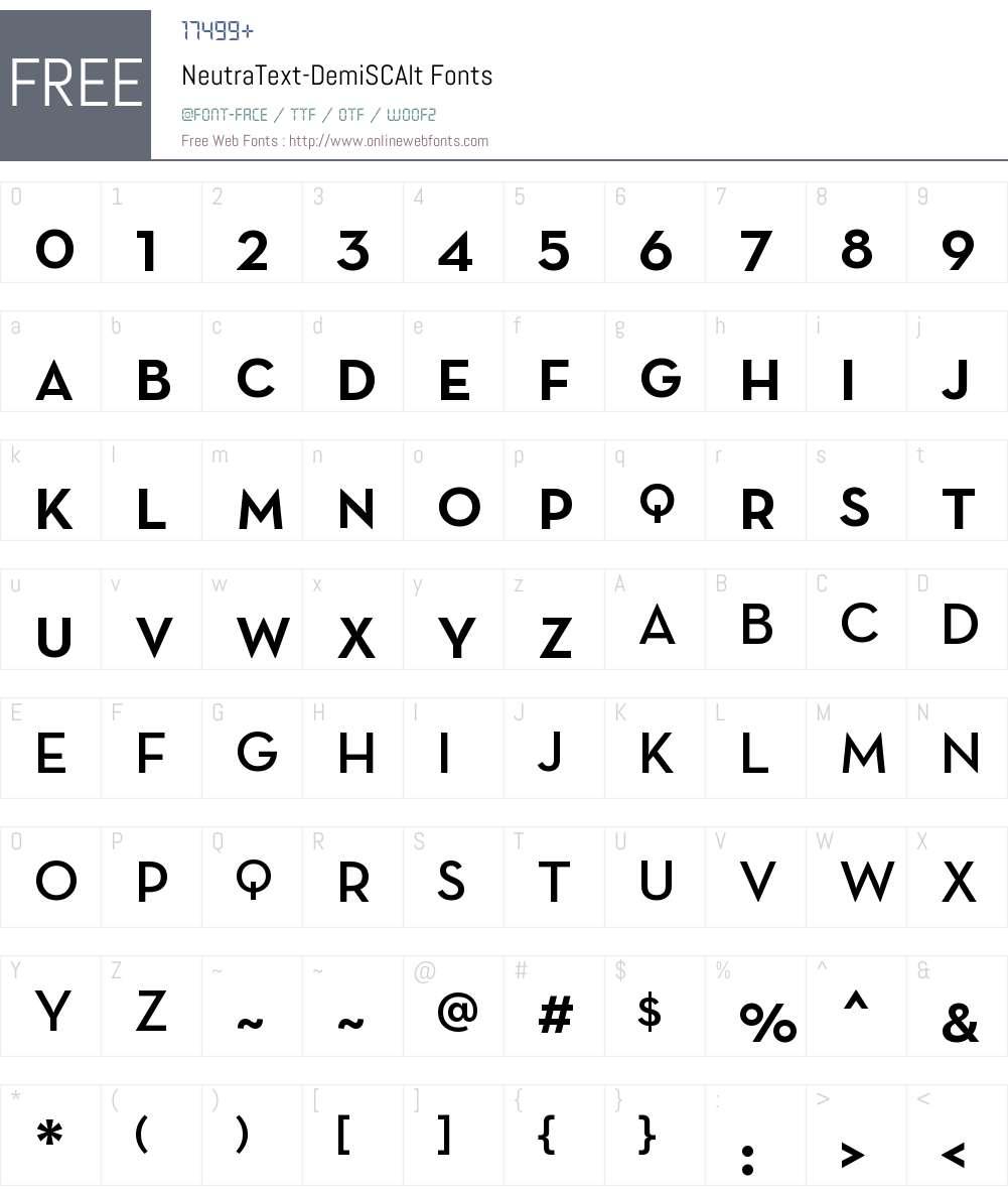 Neutra Text Light SC Alt Font Screenshots