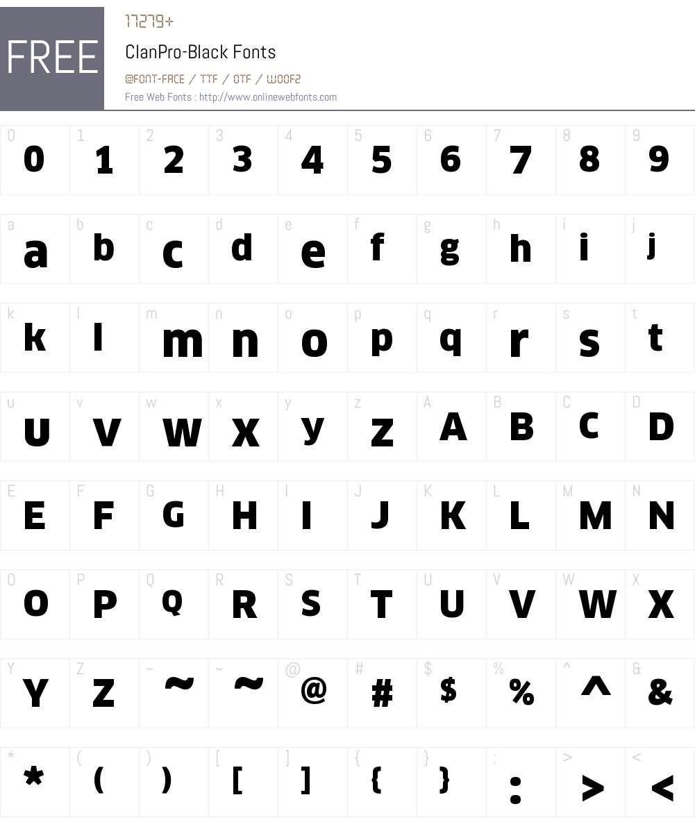ClanPro-Black Font Screenshots