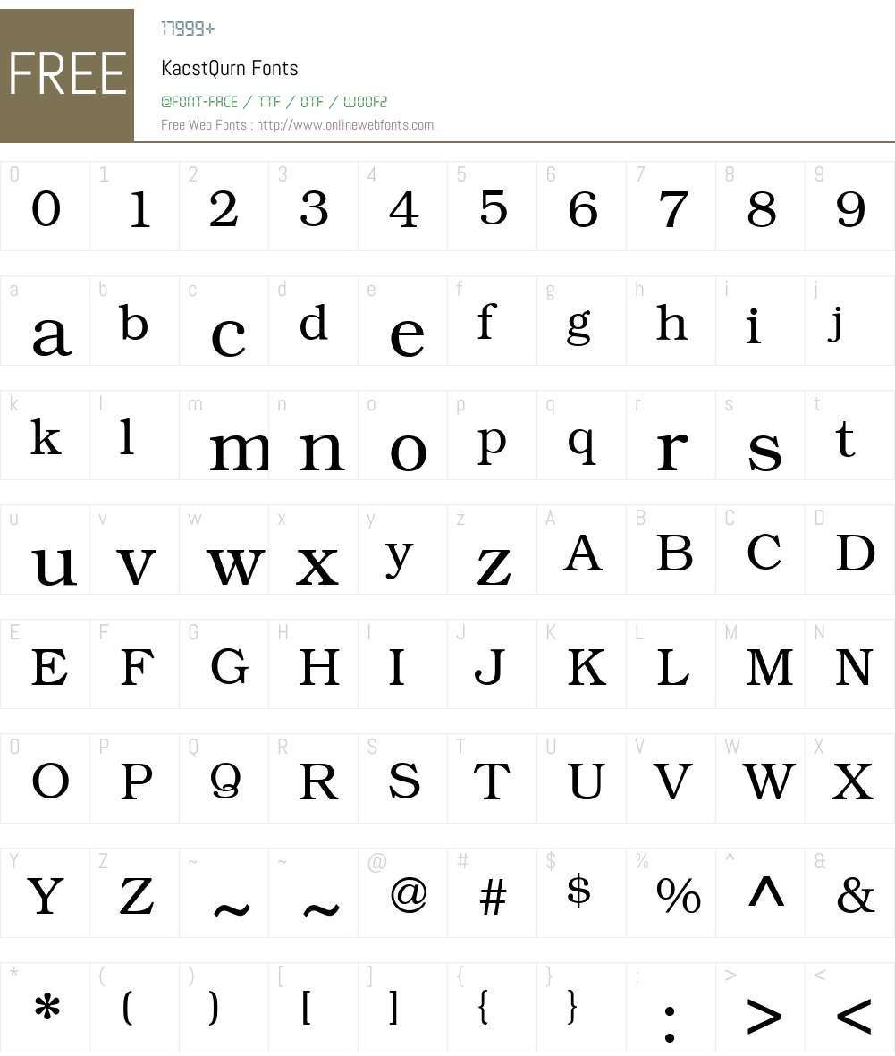 KacstQurn Font Screenshots
