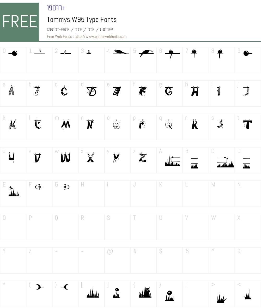TommysW95-Type Font Screenshots