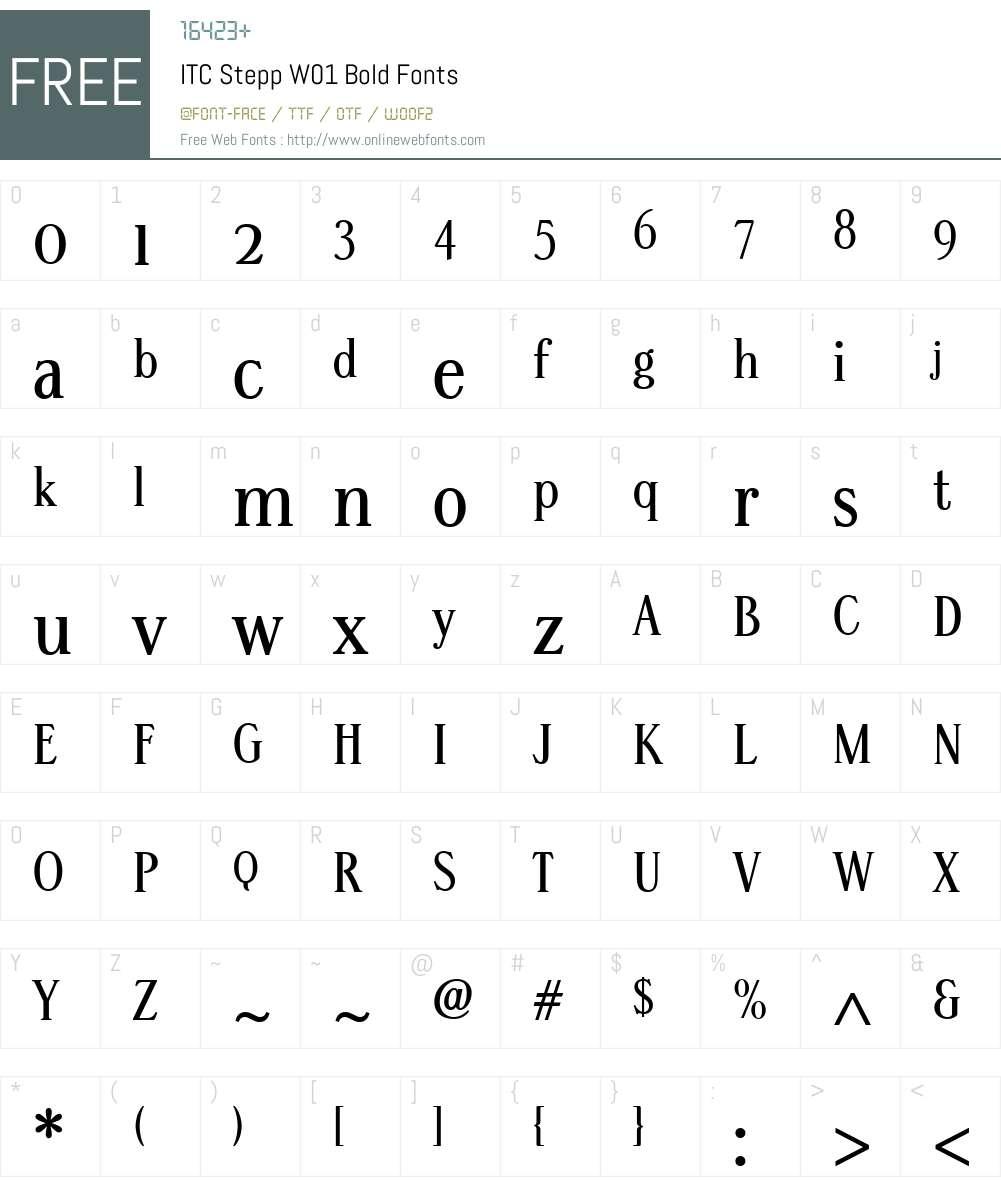 ITCSteppW01-Bold Font Screenshots