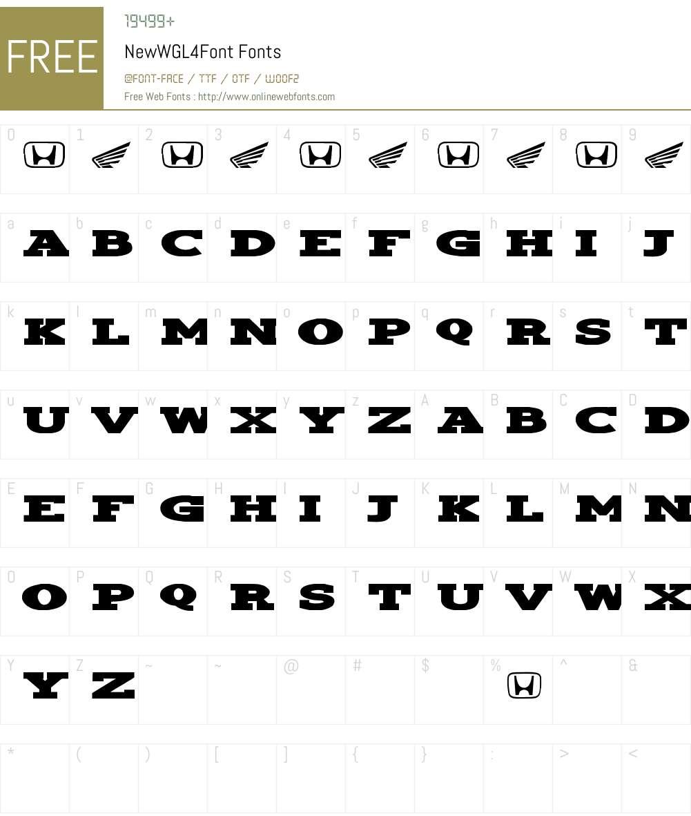 Hondafont Font Screenshots