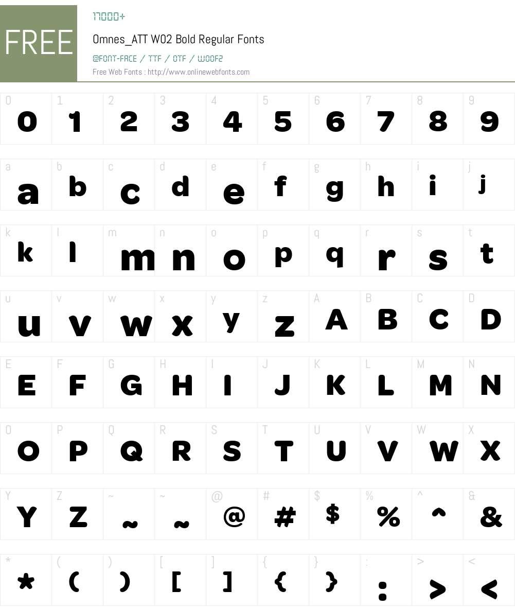 Omnes_ATT W02 Bold Font Screenshots
