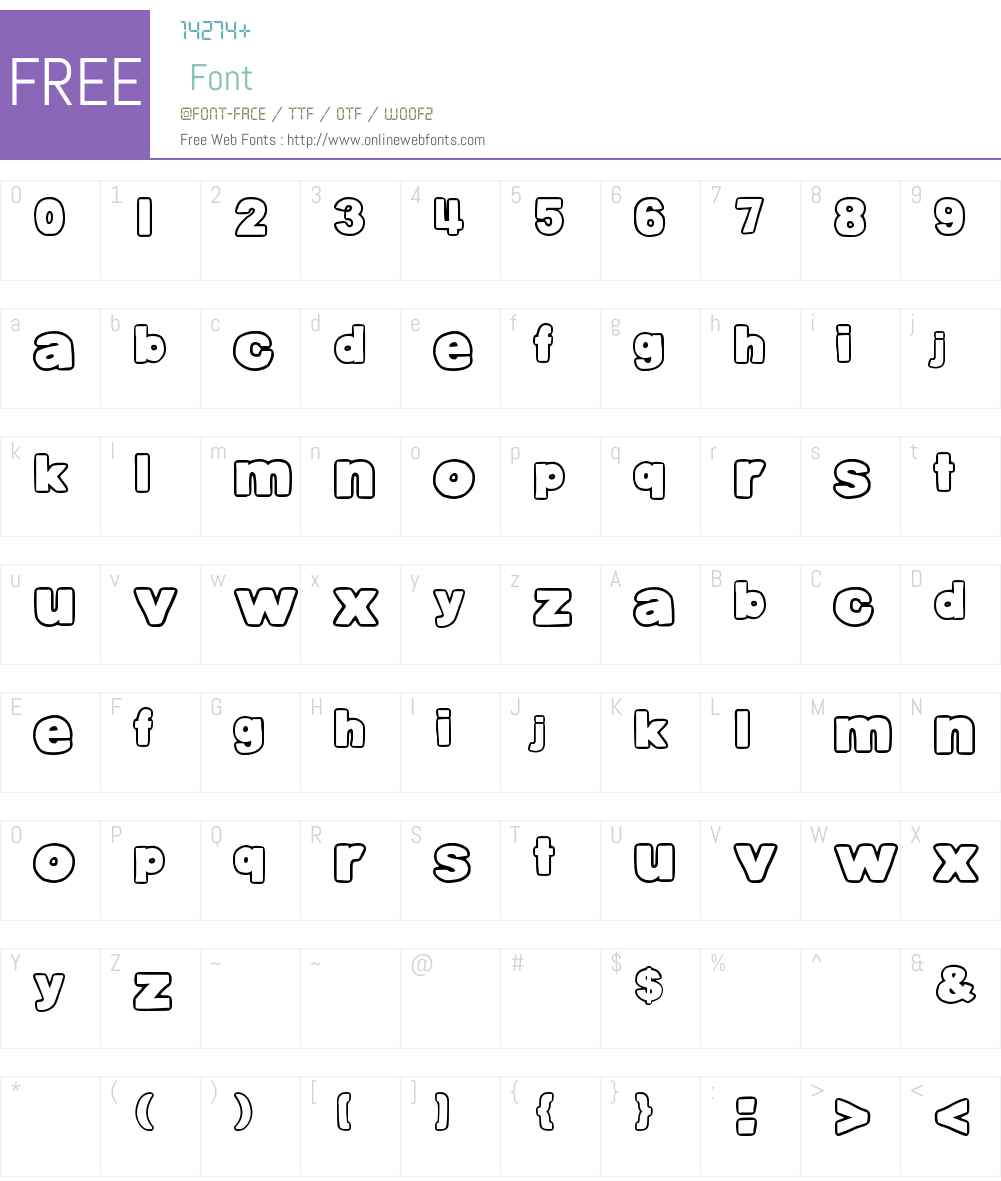 DJB Belly Button-Outtie Font Screenshots
