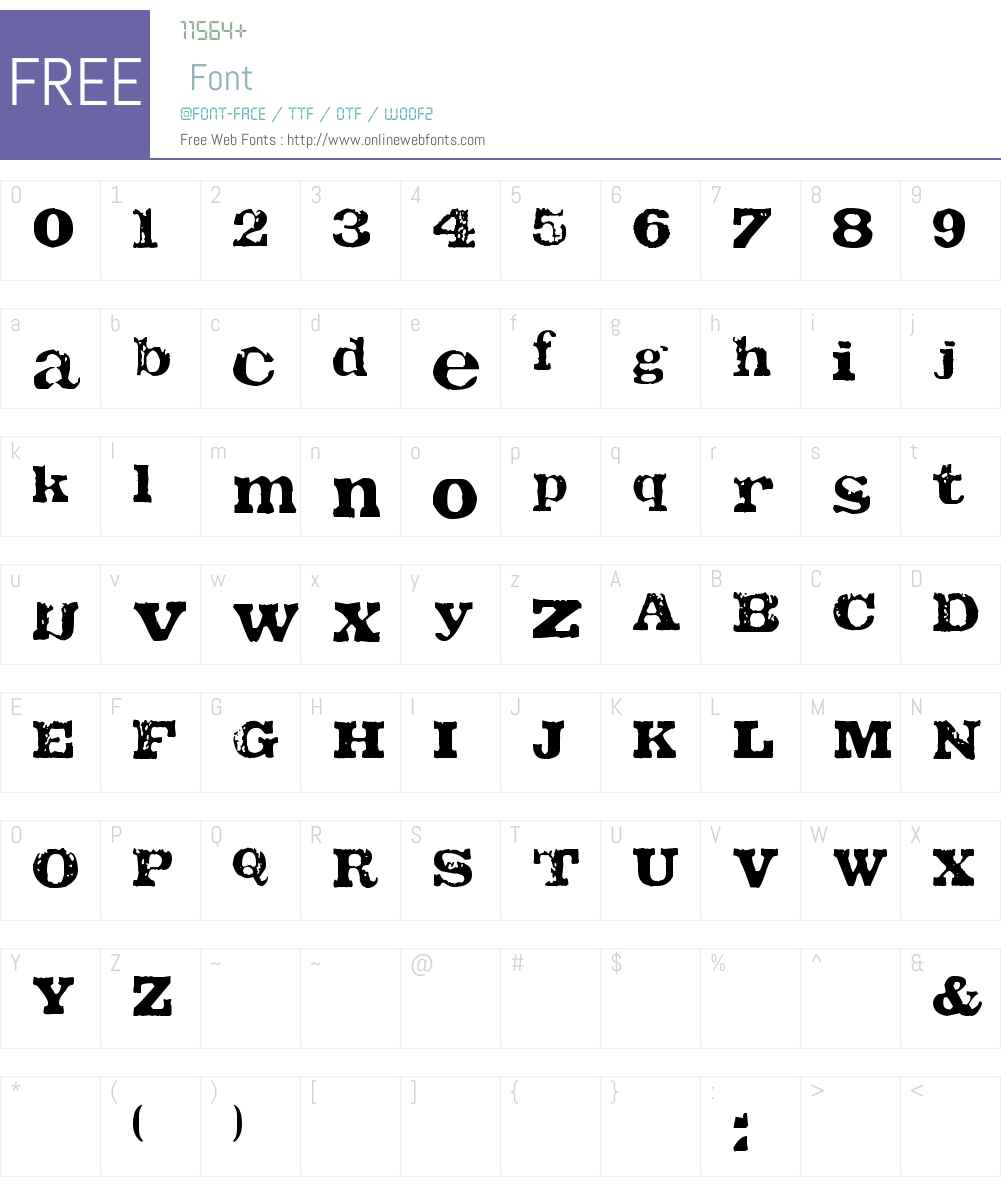 TATU Font Screenshots