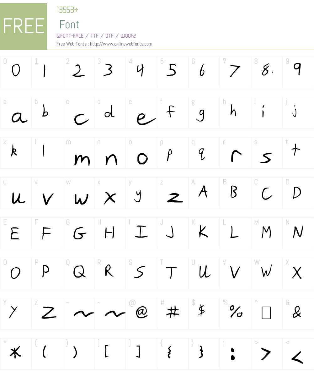 Slim Jim Font Screenshots