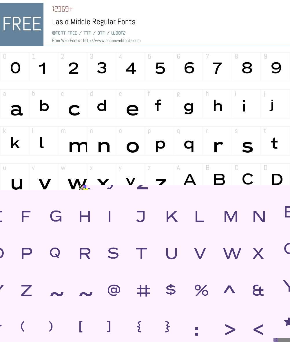 Laslo Middle Font Screenshots