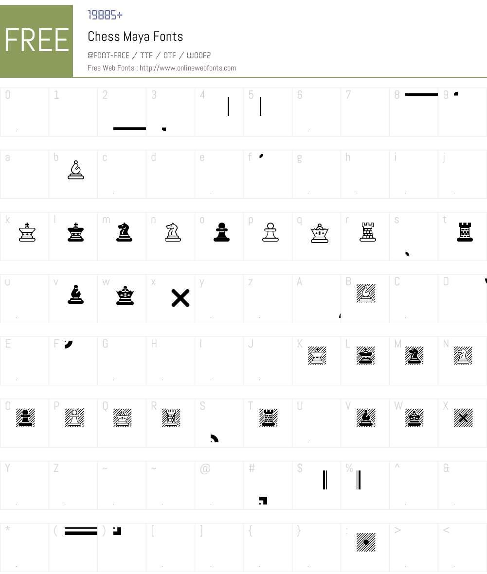 Chess Maya Font Screenshots
