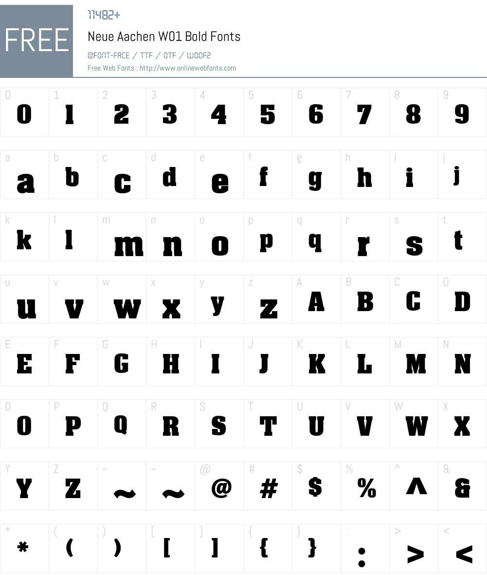 NeueAachenW01-Bold Font Screenshots