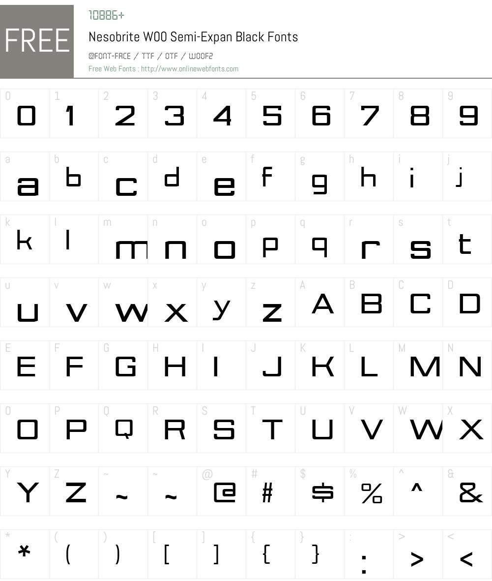 NesobriteW00-Semi-ExpBlack Font Screenshots