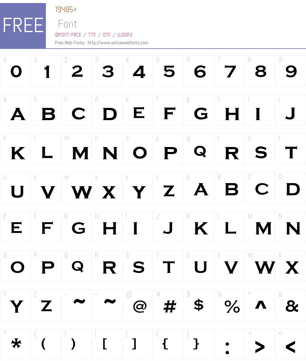 Copperplate-Gothic Font Screenshots