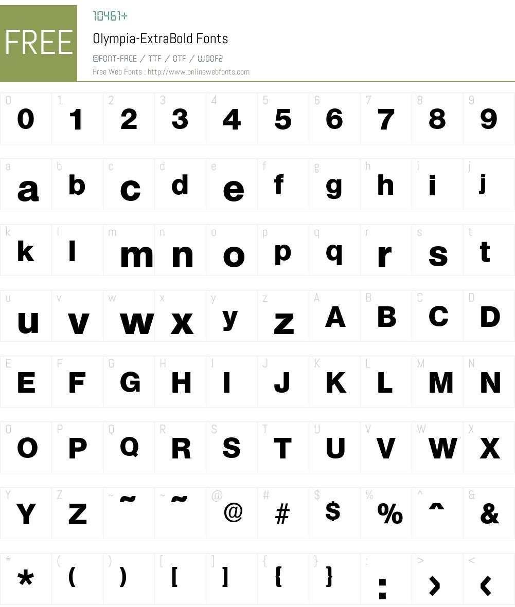 Olympia-ExtraBold Font Screenshots
