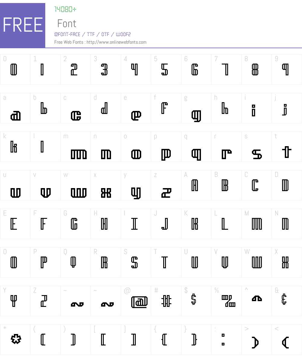 genotype H BRK Font Screenshots