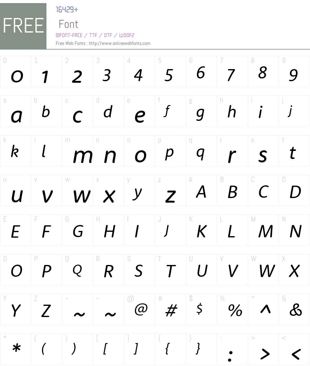 RooneySans-RegularItalic Font Screenshots