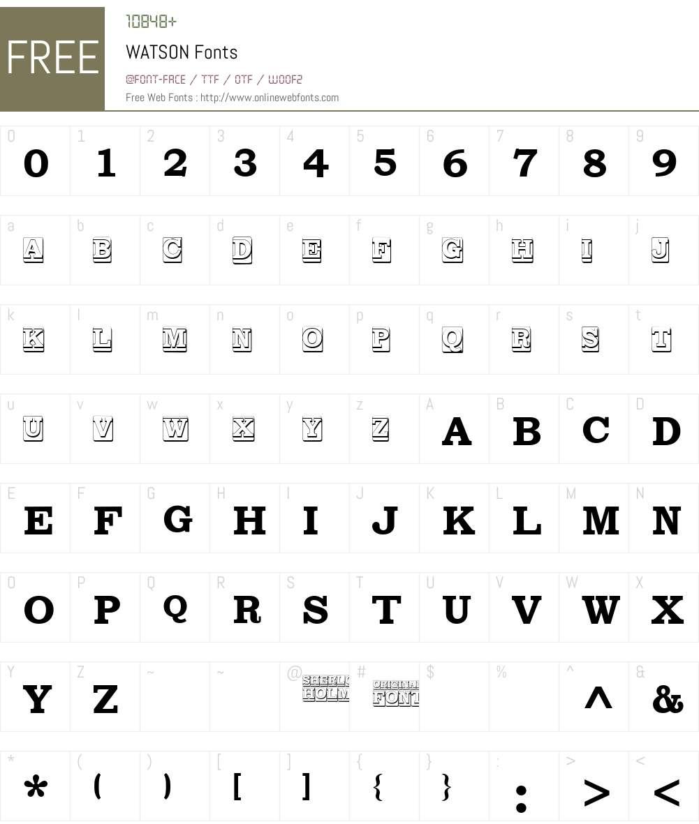 WATSON Font Screenshots