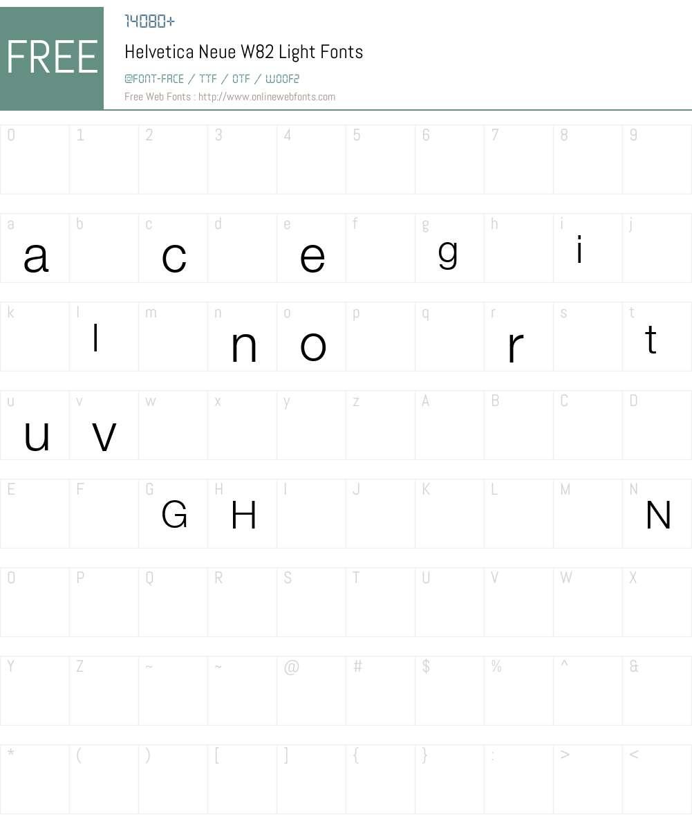 HelveticaNeueW82-Light Font Screenshots